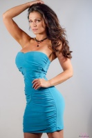Дениз Милани, фото 5501. Denise Milani Blue Dress 2012 :, foto 5501