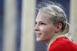 Дарья Клишина, фото 26. Darya Klishina 13th IAAF World Athletics Championship, Daegu, South Korea - 28.08.2011, foto 26
