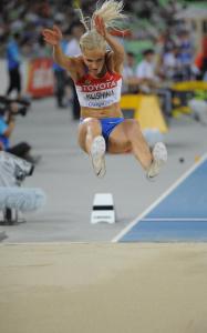 Дарья Клишина, фото 28. Darya Klishina 13th IAAF World Athletics Championship, Daegu, South Korea - 28.08.2011, foto 28