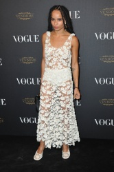 Zoe Kravitz - Paris Fashion Week Spring/Summer 2016: Vogue 95th Anniversary Party Photocall @ 51 Avenue d'Iena in Paris - 10/03/15