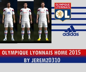 Download PES 2013 Olympique Lyonnais Home Kit 2015 by JEREMZ0310