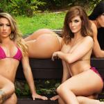 Gatas QB - Gatas do Agito (Helena Silva, Ariana Medeiros e Monique Seiffert) Revista Sexy Fevereiro 2014