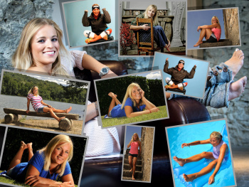 Swiss Alpine Skiracer Lara Gut - Collage and Wallpaper x 1