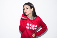 Victoria Justice - Christmas Sweater Photoshoot for Seventeen -
