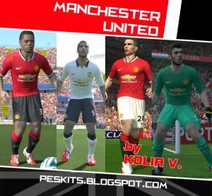 Download PES 2014 Man Utd Full GDB 14/15 by Kolia V