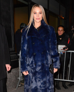 Hannah Davis Jeter - Arriving At The Sports Illustrated Swimsuit Issue Launch Event in NYC - February 16th 2017
