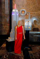 Nastia Liukin - Empire State Building Lighting in Red, White & Blue @ the Empire State Building in NYC - 04/27/16