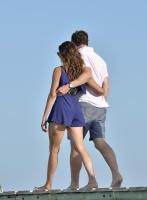 Nina Dobrev with her boyfriend Austin Stowell in Saint-Tropez (July 24) 4Gp1QitX