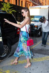 Miranda Kerr leaves Milk Studio after a photoshoot in NYC July