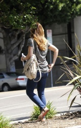 Minka Kelly - out in LA 4/22/13