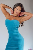 Дениз Милани, фото 5495. Denise Milani Blue Dress 2012 :, foto 5495