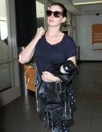 Anne Hathaway is seen at LAX Airport in Los Angeles - November 6-2015 x13