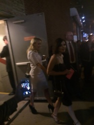 Emily Osment and Lucy Hale Leaving ABC Family's 2015 Upfront Presentation in New York City - April 14, 2015