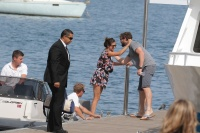 Nina Dobrev and Asustin Stowell enjoy the ocean off the cost the French Riviera (July 26) G0ec4Bqd