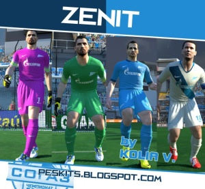 Download PES 2014 Zenit Saint Petersburg 14-15 Kits by Kolia V.