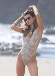Rachel McCord - Shooting a  Photoshoot for 138 Water in Malibu - March 7th 2017