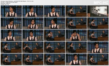 Sarah Silverman - Late Night With Seth Meyers - 10-2-14