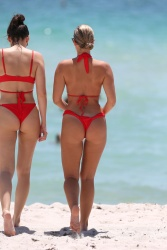 Natasha Oakley and Devin Brugman at a Beach in Miami - 7/18/17