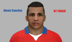 Download Alexis Sánchez PES 2014 Face by yousif