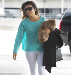 Eva Longoria - at JFK Airport in NYC 4/19/13