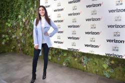 "Victoria Justice -  ""Game Winners"" At Super Bowl City Verizon Access Zone - 2/4/16"