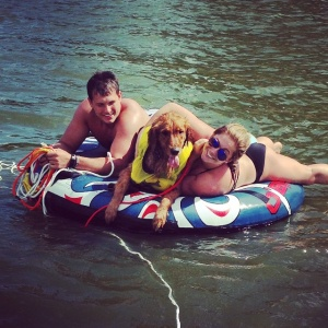 Shawn Johnson at a Lake in Iowa - 6/28/15