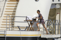 Nina Dobrev and Asustin Stowell enjoy the ocean off the cost the French Riviera (July 26) Z3wKc98w