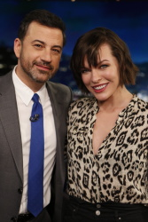 Milla Jovovich - Jimmy Kimmel Live: January 24th 2017