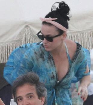 English: Katy Perry Blue Bikini Miami, FL, USA