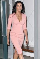 Padma Lakshmi | Pink Cleavage