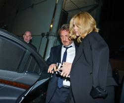Sean Penn - Charlize Theron and Sean Penn - seen leaving Royal Festival Hall. London - February 16, 2015 (153xHQ) 3xHuabFx