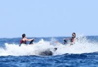 Nina Dobrev with her boyfriend Austin Stowell in Saint-Tropez (July 24) TzUE8Tay
