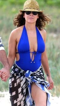 English: Alyssa Milano Blue Bikini Hawaii