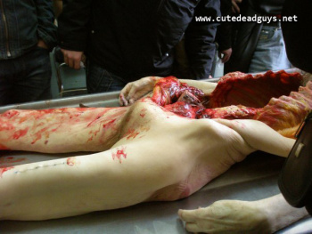 Can not naked dead woman autopsy what