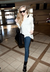 Amanda Seyfried - departs at LAX Airport 1/21/13