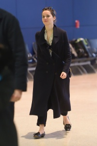 Felicity Jones - At JFK Airport in New York - February 27th 2017