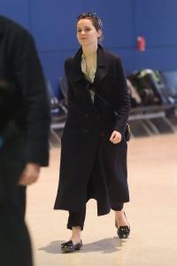 Felicity Jones - At JFK Airport in New York - February 27th 2017
