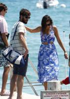 Nina Dobrev with her boyfriend Austin Stowell in Saint-Tropez (July 24) JRVAimQA
