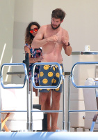 Nina Dobrev and Asustin Stowell enjoy the ocean off the cost the French Riviera (July 26) Og5Ci1zn