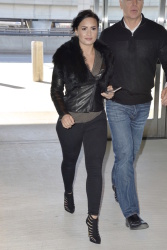 Demi Lovato Wearing Tight Jeans at JFK Airport in New York City - 3/12/15