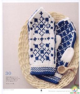 image hostЖурнал с вязаными в скандинавском стиле аксессуарами-варежки,носки,шапочки