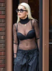 Rita Ora - Leaving a radio station in NYC 8/11/15