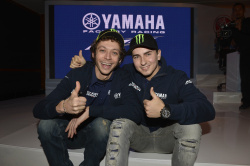 Valentino Rossi and Jorge Lorenzo visit Jakarta, Indonesia