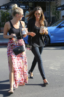Nina Dobrev with Hilary at Alfred Coffee & Kitchen in West Hollywood (July 29) D2ybpZrf