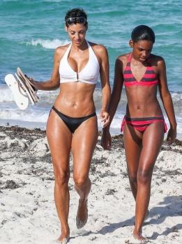 Retro Bikini Nicole Murphy Displays A White Bikini Quot As