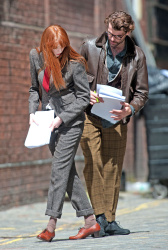 Карен Гиллан, фото 196. Karen Gillan - Set of 'Not Another Happy Ending' in Glasgow, Scotland - 7/20/12, foto 196
