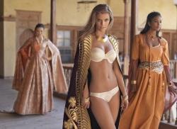 Nina Agdal – photoshoot for Yeni Inci lingerie – 11