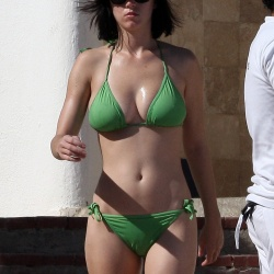 Katy Perry green bikini 1