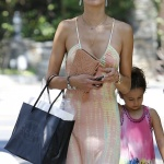 Alessandra Ambrosio in a Sundress (x 89) - Shopping in Brentwood - Aug 1, 2014