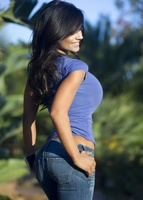 Дениз Милани, фото 4417. Denise Milani Blue T-Shirt, foto 4417